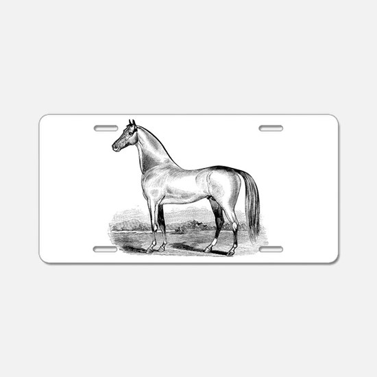 Quarter Horse Artwork Aluminum License Plate