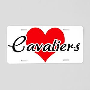 Love Cavaliers Aluminum License Plate