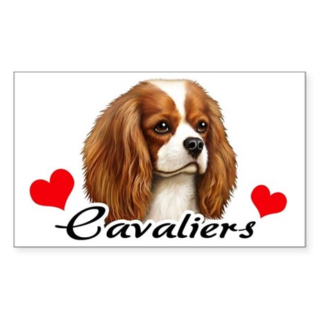 Love Cavaliers Sticker (Rectangle)