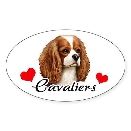 Love Cavaliers Sticker (Oval)
