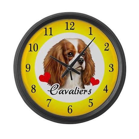 Love Cavaliers Large Wall Clock
