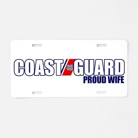 USCG Wife Aluminum License Plate
