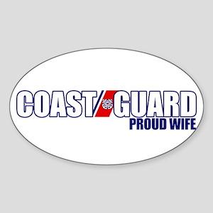 USCG Wife Sticker (Oval)