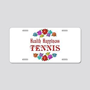 Tennis Happiness Aluminum License Plate