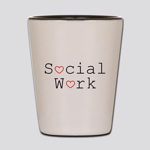 Social Work Hearts Shot Glass
