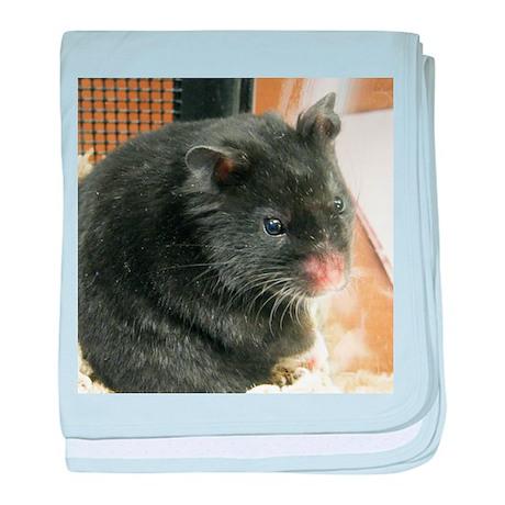 Black Hamster baby blanket