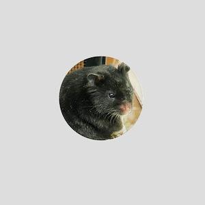 Black Hamster Mini Button