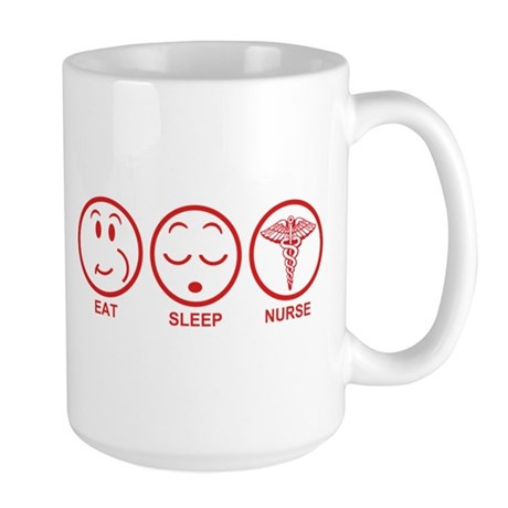 Eat Sleep Nurse Large Mug