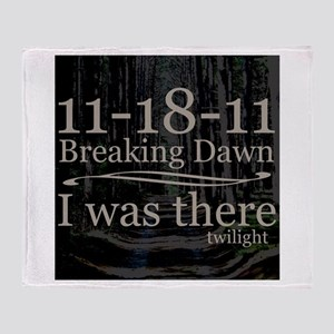 11-18-11 I Was There Breaking Throw Blanket
