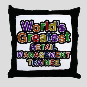 Worlds Greatest RETAIL MANAGEMENT TRAINEE Throw Pi