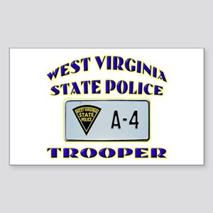 West Virginia State Police Sticker (Rectangle)