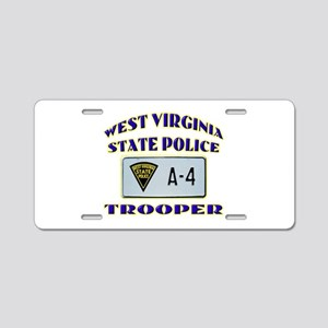 West Virginia State Police Aluminum License Plate