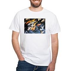 Koi Fish White T-Shirt