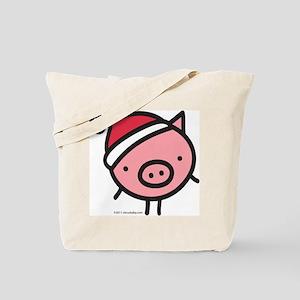 Cute Santa Pig Tote Bag