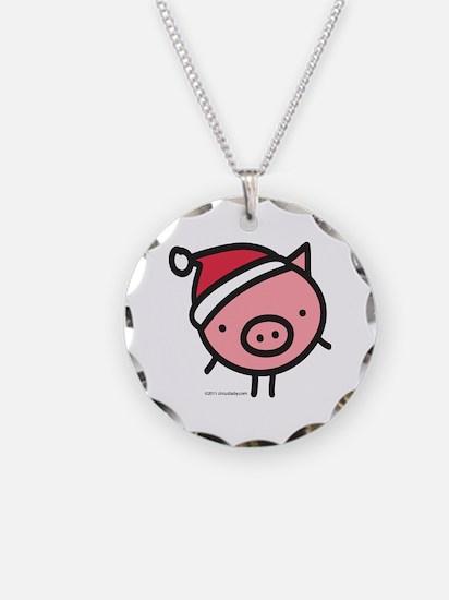 Cute Santa Pig Necklace