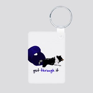 Get Through It Tunnel Aluminum Photo Keychain