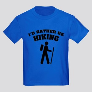 I'd rather be Hiking Kids Dark T-Shirt