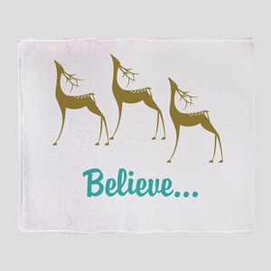 Believe in Santa Claus Throw Blanket