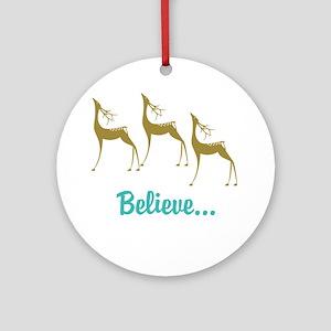 Believe in Santa Claus Ornament (Round)