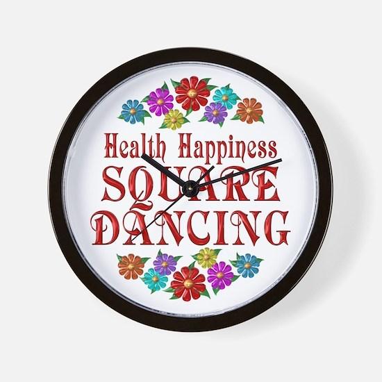 Square Dancing Happiness Wall Clock