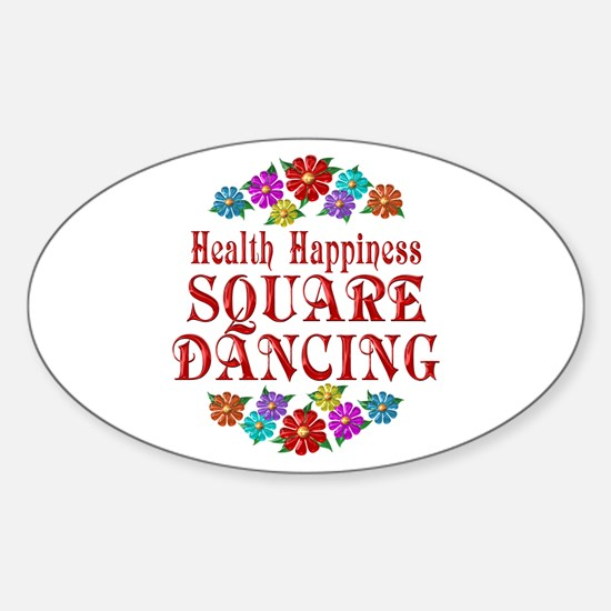 Square Dancing Happiness Sticker (Oval)