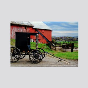 Country Scene Rectangle Magnet