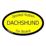 Spoiled Dachshund Oval Sticker (Oval 10 pk)