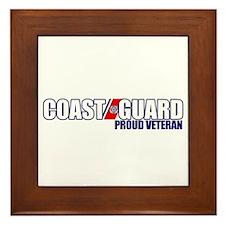 USCG Veteran Framed Tile