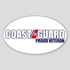 USCG Veteran Sticker (Oval)