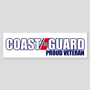 USCG Veteran Sticker (Bumper)