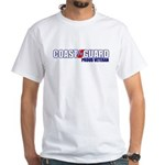 USCG Veteran White T-Shirt