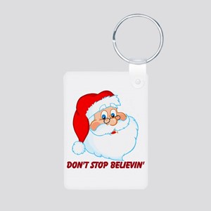 Don't Stop Believin' Aluminum Photo Keychain