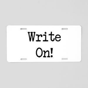 Write On Aluminum License Plate
