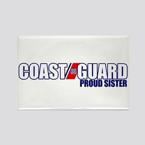 USCG Sister Rectangle Magnet