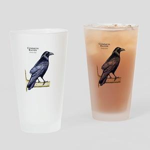 Common Raven Drinking Glass