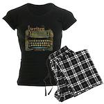 typewriter writer Women's Dark Pajamas