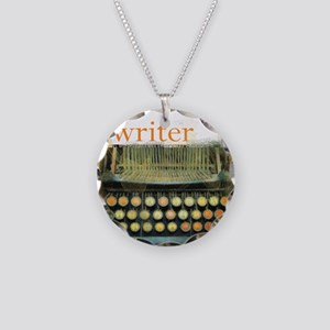 typewriter writer Necklace Circle Charm