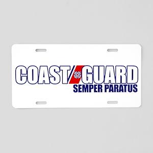 Semper Paratus Aluminum License Plate