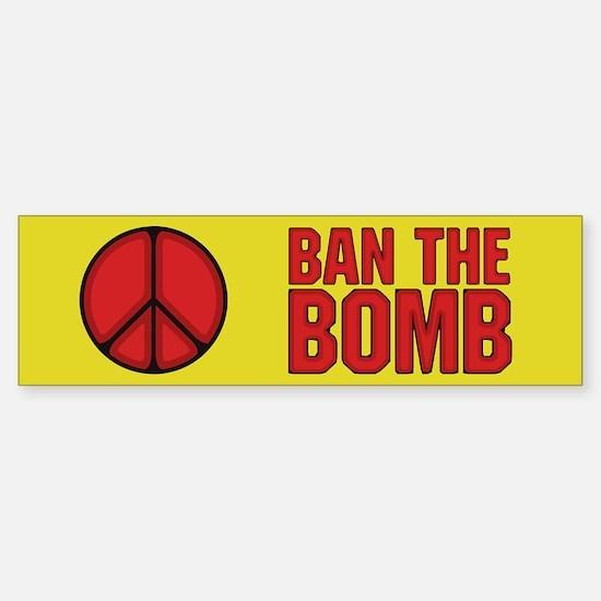 Ban the Bomb Sticker (Bumper 10 pk)