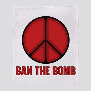 Ban the Bomb Throw Blanket