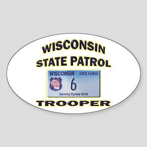 Wisconsin State Patrol Sticker (Oval)