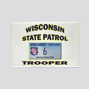 Wisconsin State Patrol Rectangle Magnet