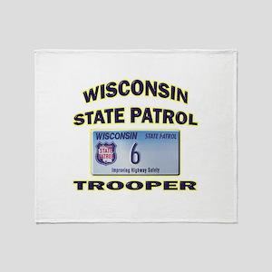 Wisconsin State Patrol Throw Blanket