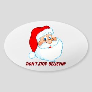 Believe in Santa Claus Sticker (Oval)