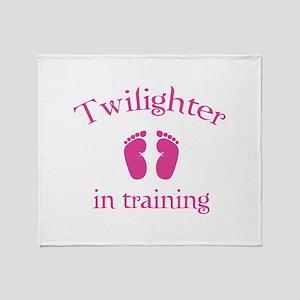 Twilighter in training Throw Blanket