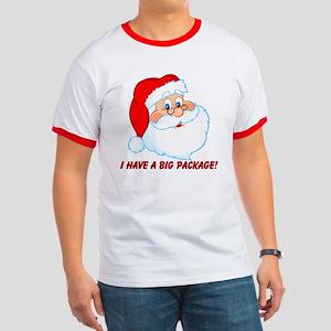 Funny Christmas Santa Claus Ringer T
