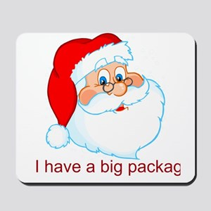 Funny Christmas Santa Claus Mousepad