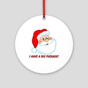 Funny Christmas Santa Claus Ornament (Round)