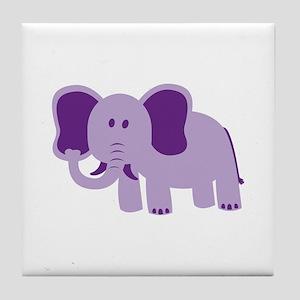 Funny Elephant Tile Coaster