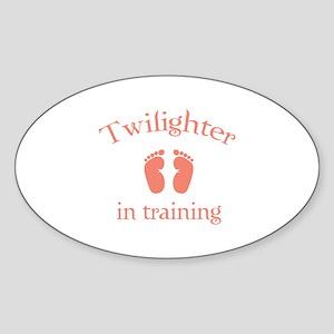 Twilighter in training Sticker (Oval)